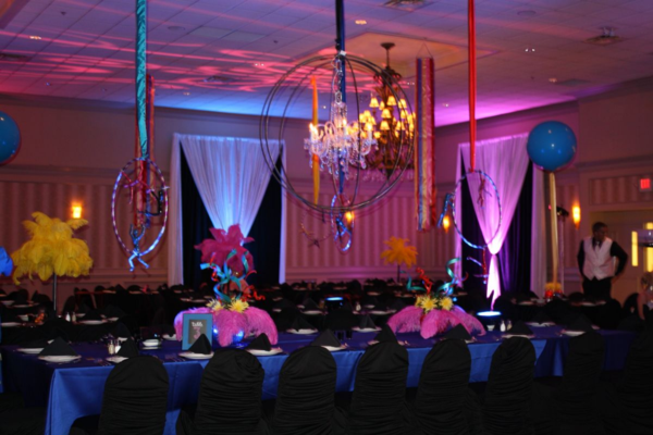 cirque du soleil theme prom by angela butorac and amber bronson eventtrender. Black Bedroom Furniture Sets. Home Design Ideas